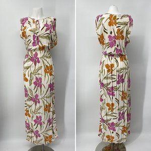 Vintage Frank Masandrea Summer Floral Gown 8